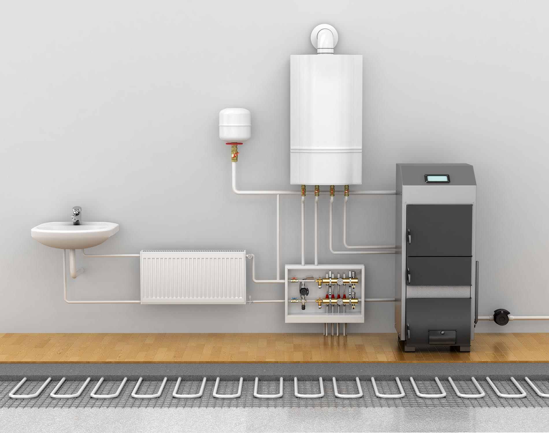 Underfloor,Heating,,Heating,Systems,In,Home.,3d,Illustration